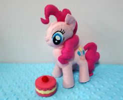 Felt MLP Pinkie Pie Plush with Cake by FeltSocially