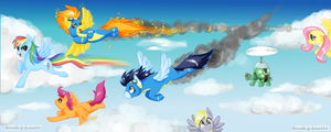 . Flyin' Ponys . by Shironiki
