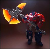 WFC : Optimus and Fire Axe by AUJEANPAS