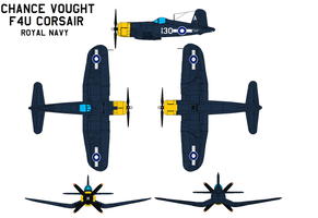 Chance Vought F4U4 Corsair  Royal Navy by bagera3005