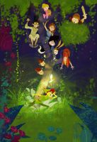 Wonderground Gallery :Peter Pan Print by PascalCampion