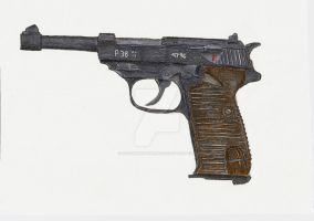 9mm Walther P-38 ac-41 by stopsigndrawer81
