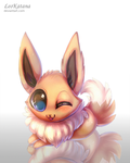 =Pokemon= Chibi Eevee by LeoKatana