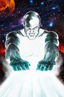 The Silver Surfer-Cosmic Blast by carstenbiernat