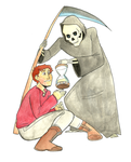 Discworld: Death and Mort by daxarve