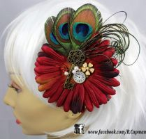 Elegantly Vintage Hair Fascinator by LittleShopOfLostArts