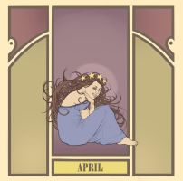 fake mucha's - april by kaffepanna