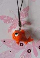 Goldfishy Phone Charm by sporkweilder