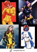 Marvel Girls 8 by gb2k by Mythical-Mommy