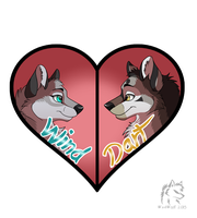 Wind and Dart Love Badge by WindWo1f