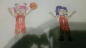 Ami and Yumi in Special NBA Jerseys by gamenskate5