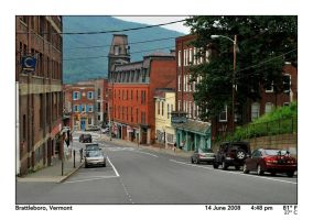 Downtown Brattleboro by PhotographyByIsh