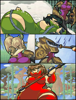 The Golden Aegis Vs Ninja Piggies. P9. by Virus-20
