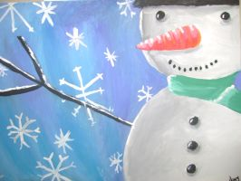 Snowman Painting by Sukoro24