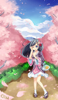 Cherry Blossom Trail by 7thPalette
