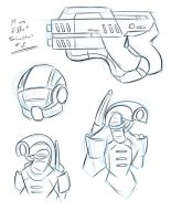 Mass Effect Sketches 1 by Obhan