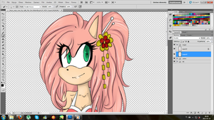 WIP collab Amy by Klaudy-na
