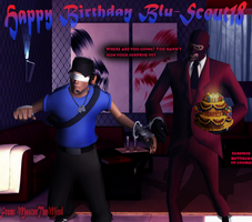 TF2: Happy Surprising Birthday Blu-Scout18 by SovietMentality