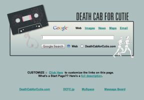 Death Cab for Cutie Startpage by AwesomeStart