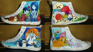 Adventure Time Shoes :D by Donovv