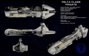 Pelta class frigate ortho by unusualsuspex