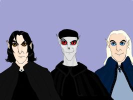 Severus, Voldemort and Lucius by Lucius007