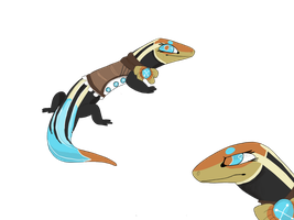 Blue tailed skink design Ridi by lizzardblackrose