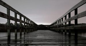 The Rainy Pier by Sketchy-Stories
