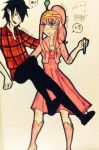 Marshall Lee x Princess Bubblegum by YaguchiKumiko-chan