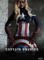 LADY Captain America by HinoSherloki