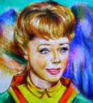 portrait of June Lockhart-lost in space by anianan
