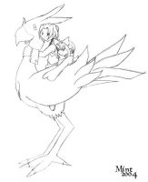 chocobo ride by princess-mint