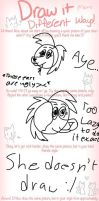 Draw It Different Ways! [] Meme [] by petcollie