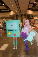 Lumpy Space Princess and BMO by PinkMateria