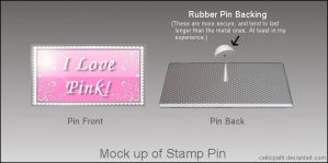 Stamp Lapel Pin mock up by celticpath