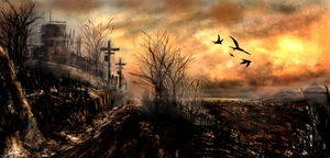 Polluted Countryside by YanDesign