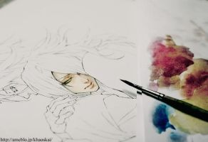 watercolor .making. by khaoskai