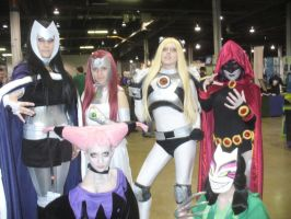 ACEN 2012 - Teen Titans Group by msbreshine