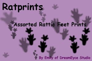 Rat Foot Print Brushes by DreamEyce