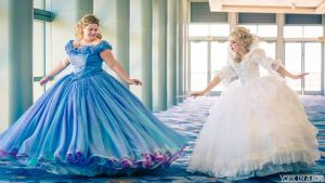 Cinderella and Fairy Godmother 2015 Cosplay at D23 by glimmerwood