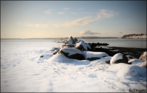 Snow on the beach by Gex78