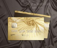 Golden style design for the credit card. by AlexandraF