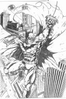 Batman Comission A3 - pencil by IgorChakal