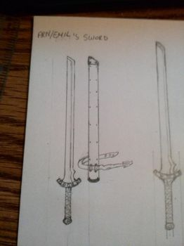 Sword Sketch by RobinOfOrbis