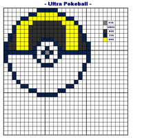XSTITCH PATTERN Ultra Pokeball by wilterdrose