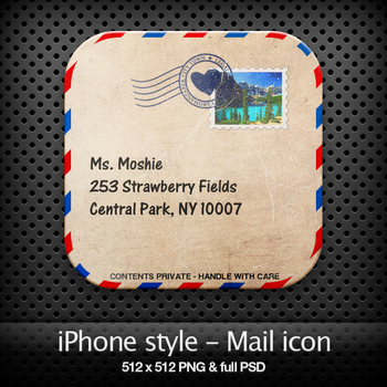 iPhone style - Mail icon by YaroManzarek