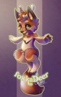 Chibi Con Badge Commission : Foxkadeer by chutkat