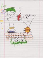 Phineas and Ferb Graffiti by ColinNikka
