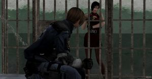 Leon in jail...first day on the job :D by Mister-Valentine