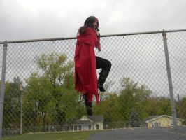 and one by one we jump over this fence... by okamixcosplayer
